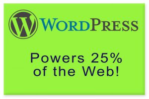 Wordpress Powers 25% of the Web